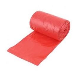 WORKI NA ŚMIECI HDPE 60L czerwone (50 sztuk)